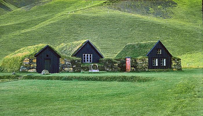 خانه های کوهستانی و سنتی ایسلندی ها