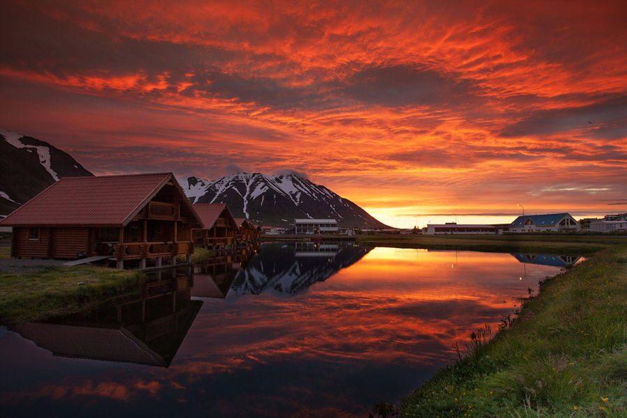 غروب آفتاب ایسلند