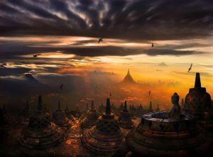 Borobudur جزیره و نماد باستانی اندونزی