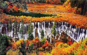 گزارش تصویری از دره فوق العاده زیبای Jiuzhaigou چین