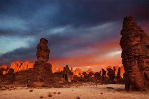 Tassili n'Jajer صحرا و کویر کوهستانی شگفت انگیز الجزایر