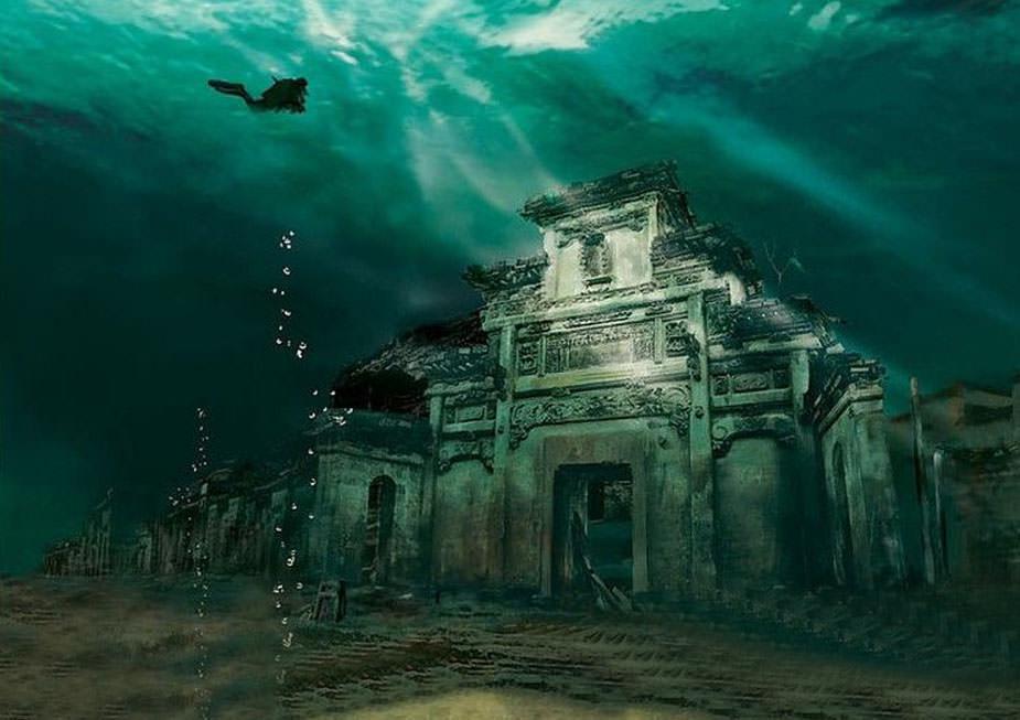 شهر زیر آبی چین
