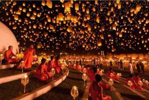 گزارش تصویری از جشنواره ی فانوس ها در یی پنگ تایلند