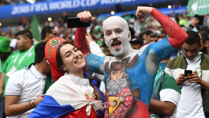 گزارش تصویری جذاب و دیدنی از افتتاحیه جام جهانی روسیه 2018
